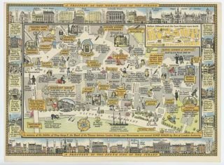 A Great New Survey of London 1946...Map of The Strand. ENGLAND - LONDON