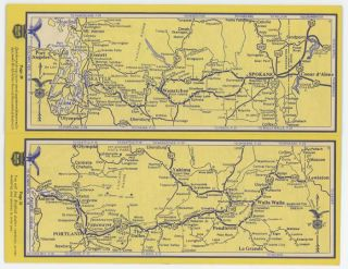 "Richfield Strip Maps. Pacific Coast Highways. (Cover title: Richfield ""Strip Maps"" California Oregon Washington. Let's go places with Richfield."