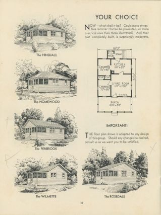 Summer Homes and Lodges. 1930s HOUSE PLANS / VACATION HOMES CATALOG