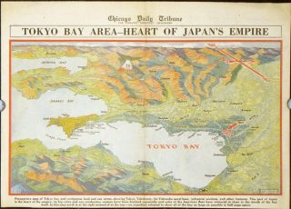 Tokyo Bay Area - Heart of Japan's Empire. Chicago Daily Tribune, July 28, 1945. JAPAN - TOKYO / WORLD WAR II.