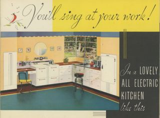 You'll Sing At Your Work! 1930s APPLIANCES - STOVES, REFRIGERATORS