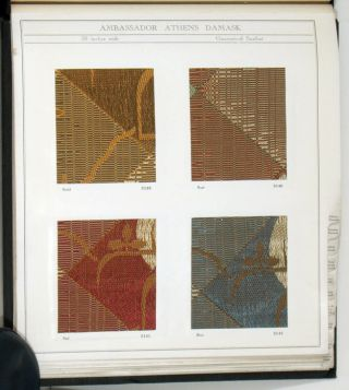 Ambassador Drapery Fabrics 1936. INTERIOR DECOR - LUXURY FABRIC SAMPLES CATALOG