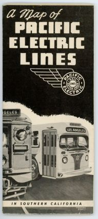 A Map of the Pacific Electric Lines. Map title: Rail and Motor Coach Lines of the Pacific Electric Railway.