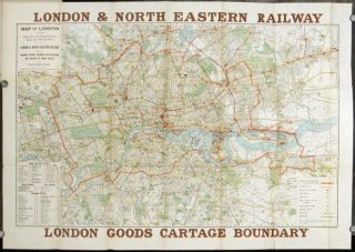 Map of London Shewing Goods Cartage Boundary for Collection & Delivery of Traffic, Also Goods &...