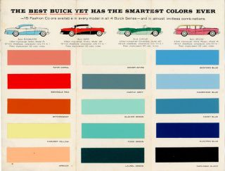 1956 Buick Fashion Colors. BUICK.