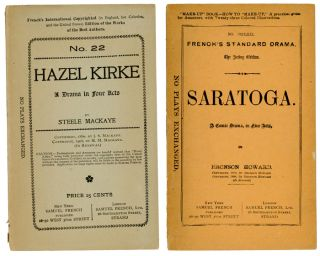 """Saratoga"" and ""Hazel Kirke"" PLAY SCRIPTS, Bronson Howard, Steele Mackaye"