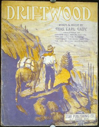 Driftwood. SHEET MUSIC - MUSICAL LAMENT, Chas. Earl Cady