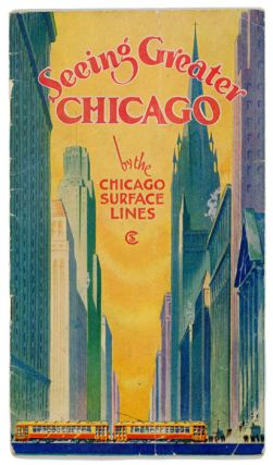 Seeing Greater Chicago by the Chicago Surface Lines. A Sightseeing and Route Guide. (Map title: System of Chicago Surface Lines Showing principal points of interest and direct lines of transportation.)