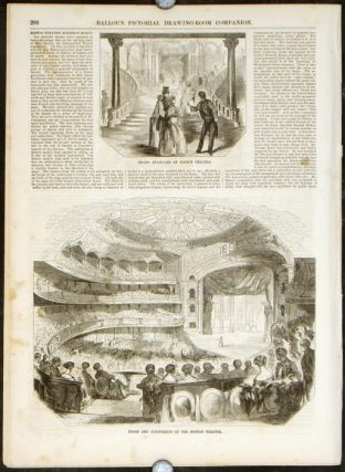 Ballou's Pictorial. BOSTON THEATRE ILLUSTRATIONS.