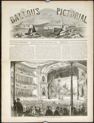 Ballou's Pictorial. NIBLO'S THEATRE NEW York CITY.