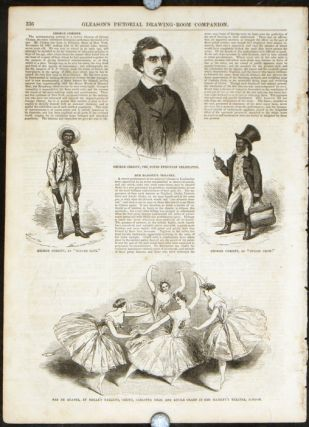 Gleason's Pictorial. BLACKFACE ENTERTAINER GEORGE CHRISTY.