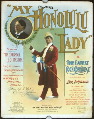 """My Honolulu Lady"" BLACKFACE MINSTRELRY, Lee Johnson"
