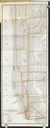 New York City subways, Hudson tunnels, elevated, surface and omnibus lines, taxicabs, railway...