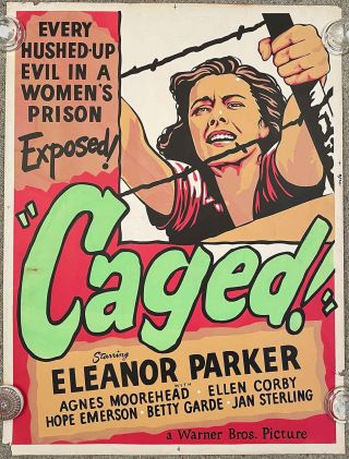 """Caged!"" (Movie Poster). FILM NOIR."