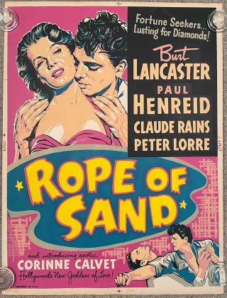 Rope of Sand. (Movie Poster). FILM NOIR.