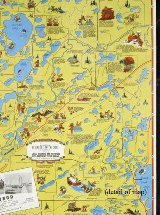 Cartomap Brainerd Lake Region in Minnesota Showing Lakes, Highways and Historical Data Pertinent to the Region.