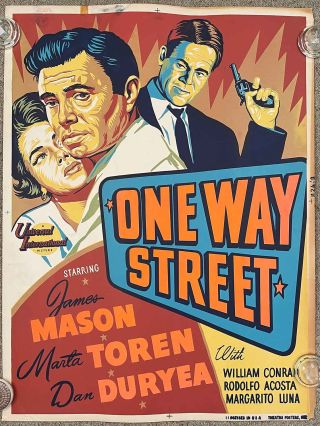 One Way Street. (Movie Poster). FILM NOIR.
