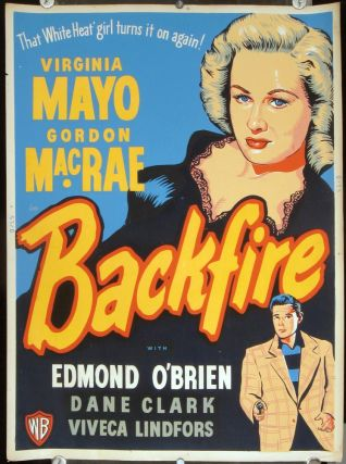 Backfire. (Movie Poster). FILM NOIR.