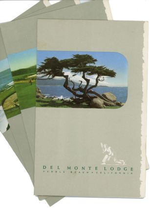 Del Monte Lodge Pebble Beach California (Four Menus). CALIFORNIA - PEBBLE BEACH / MENU.