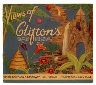 """Views of Clifton's"" Restaurant. CALIFORNIA - LOS ANGELES / MENU."
