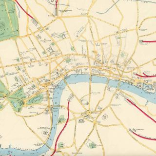 A Clue-Map to the Principal Buildings and Thoroughfares of London.