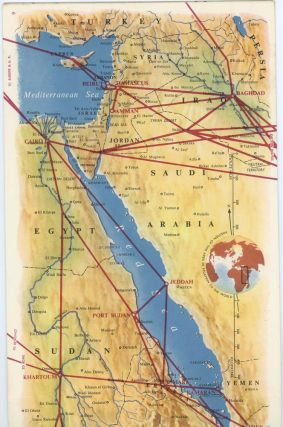 B.O.A.C. Route Map No. 3 Britain-Middle East-East Africa-South Africa-West Africa