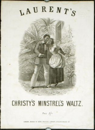 Laurent's Christy's Minstrel's Waltz. SHEET MUSIC: FRONT COVER ONLY