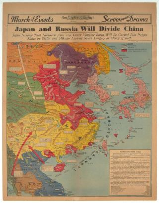 Japan and Russia Will Divide China. Signs Increase That Northern Area and Lower Yangtze Basin...