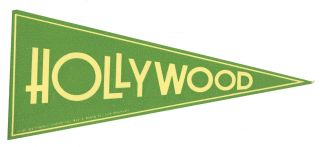 Hollywood. [LUGGAGE LABEL]. CALIFORNIA - HOLLYWOOD