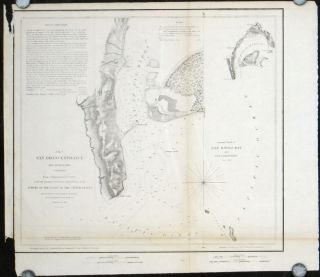 San Diego Entrances and Approaches California. General Sketch of San Diego Bay and Los...