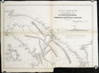 Atlantic & Pacific Junction. Topographical Map of a portion of the Isthmus of Darien in Site of...
