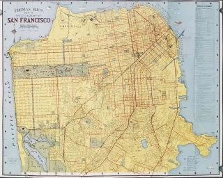 Thomas Bros. San Francisco Info-Guide. And Complete Detailed Colorful Street Map. CALIFORNIA -...