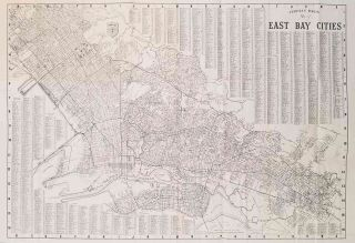Thomas Bros. Map. San Francisco Oakland Berkeley Alameda Piedmont San Leandro Emeryville Albany....