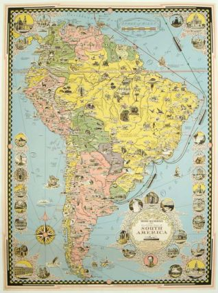 Moore-McCormack Lines Pictorial Map of South America. SOUTH AMERICA.