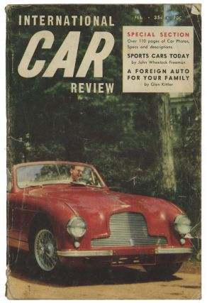 International Car Review. AMERICAN AND INTERNATIONAL CARS, Publisher Arthur Bernhard.