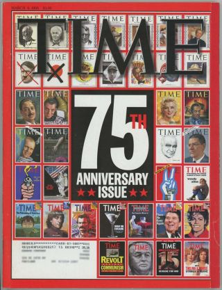 Time. 75th ANNIVERSARY ISSUE.