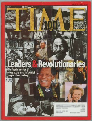 Time Magazine. April 13, 1998. LEADERS AND REVOLUTIONARIES OF THE 20th Century
