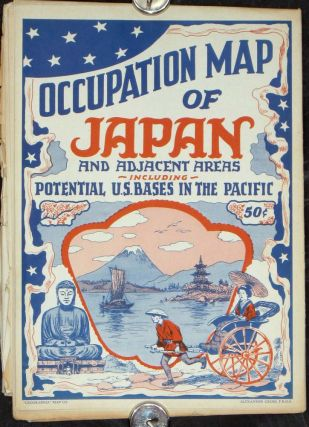 Occupation Map of Japan and Adjacent Areas including Potential U.S. Bases in the Pacific.