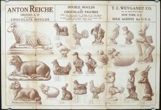 Anton Reiche Aktiengesellschaft Chocolate Moulds. Double Moulds for Chocolate Figures. T. C....