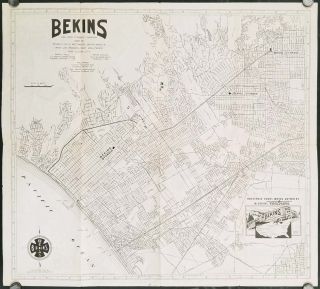 Bekins Van and Storage Company Map of Beverly Hills, Westwood, Santa Monica, West Los Angeles, West Hollywood and Culver City. (Cover title: Map of Beverly Hills and Santa Monica.). CALIFORNIA - LOS ANGELES AREA.