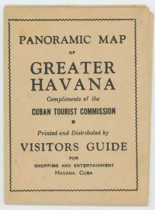 Panoramic and Monumental Map of Havana. (Plano Panoramico y Monumental de La Habana). Cover title: Panoramic Map of Greater Havana.)