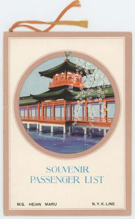 Souvenir Passenger List. Dollar Steamship Line. Orient - Round the World. CRUISE LINES - N. Y. K....