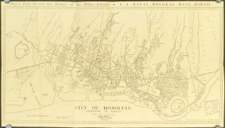 Honolulu Map and Guide. Map title: City of Honolulu--Territory of Hawaii. HAWAII - HONOLULU