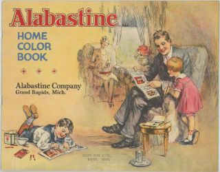 Alabastine Home Color Book. INTERIOR DESIGN / COLORING BOOK.