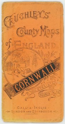 Cruchley's Road and Railway Map of the County of Cornwall. ENGLAND - CORNWALL