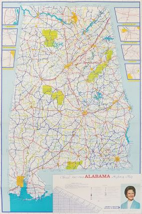 1967-68 Alabama Official State Map.