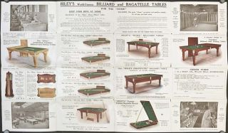 E. J. Riley, Ltd. BILLIARD TABLE MANUFACTURE.