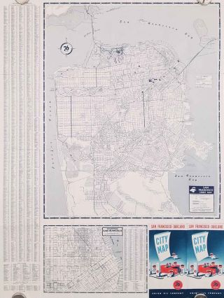 San Francisco-Oakland City Map. Union Oil Company. CALIFORNIA - SAN FRANCISO / OAKLAND / LAND...