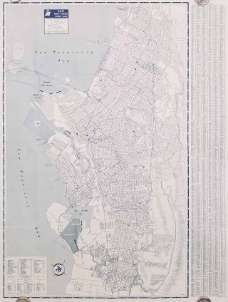 San Francisco-Oakland City Map. Union Oil Company.
