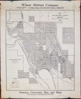 Map of Klamath Falls Oregon Compiled from Official Records 1926. OREGON - KLAMATH FALLS